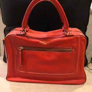 Kate Spade red double section satchel